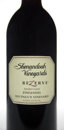 2015 ReZerve Paul's Vineyard Zinfandel