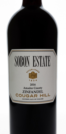 2016 Zinfandel <br> Cougar Hill