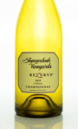 2018 Shenandoah Vineyards ReZerve Chardonnay Web Bottle Picture