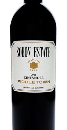 2018 Sobon Estate Fiddletown Zinfandel Web Bottle Picture